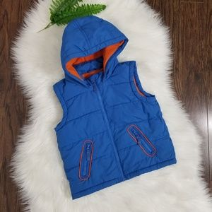 Marks & Spencer | Puffy Hooded Vest Size 4/5 Blue